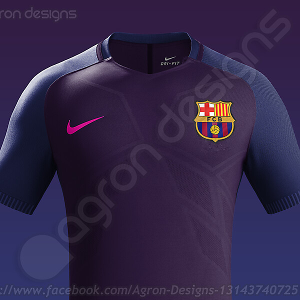 Nike Fc Barcelona Away Kit 2016-17 based on leaked images