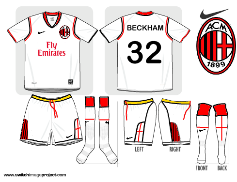 AC Milan Nike Away 2010-2011, new sponsor
