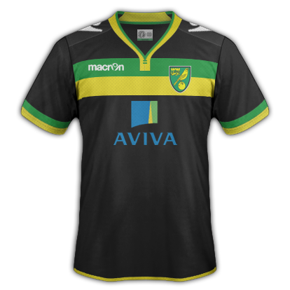 Norwich City fantasy Away kit by VSync32