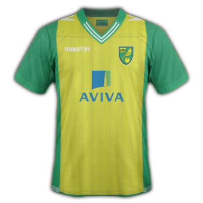 Norwich City fantasy Home kit by VSync32