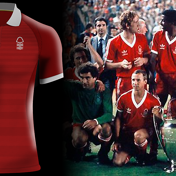 Nottingham Forest home jersey by J-sports