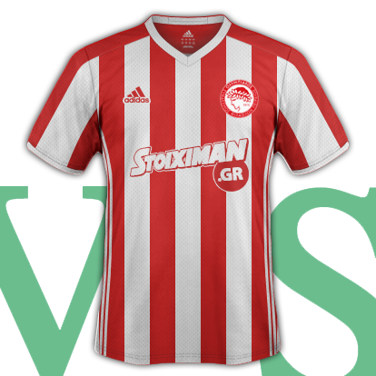 Olympiacos CFP Home Shirt 2016/17 with Adidas