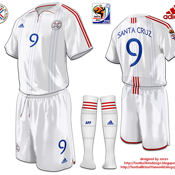 Paraguay World Cup 2010 fantasy away
