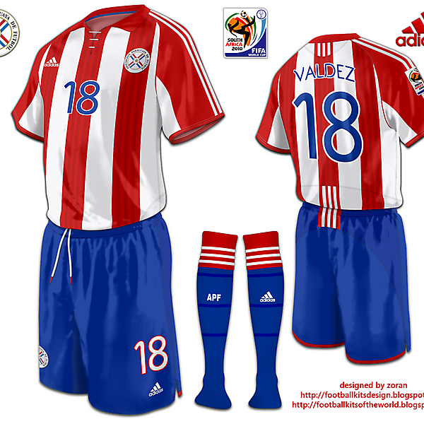 Paraguay World Cup 2010 fantasy home