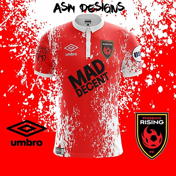 Phoenix Rising FC Umbro 2018 Home Kit