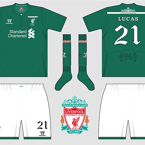 Liverpool Home, Away & Third Kits