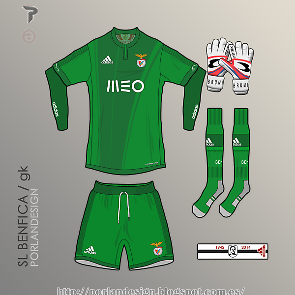 PORLANDESIGN / SL Benfica GK kit