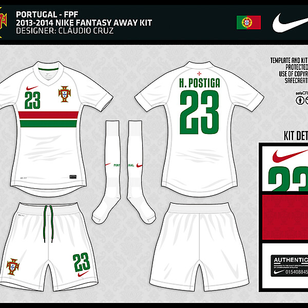 Portugal - 2013/2014 Nike Away Fantasy Kit - by Cláudio Cruz