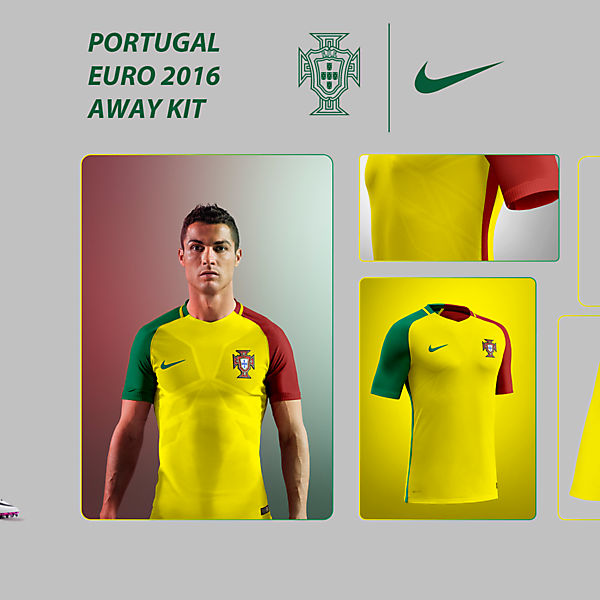 PORTUGAL EURO 16 AWAY KIT