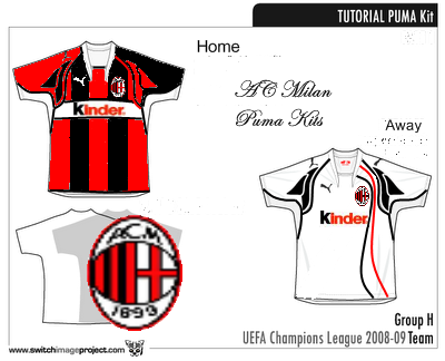 Ac Milan  Puma Kits, Home and Away new sponsor!