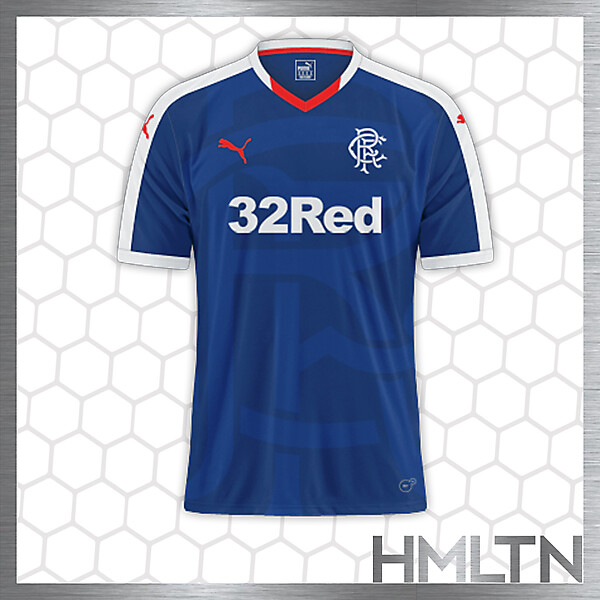 Rangers HOME kit by Puma