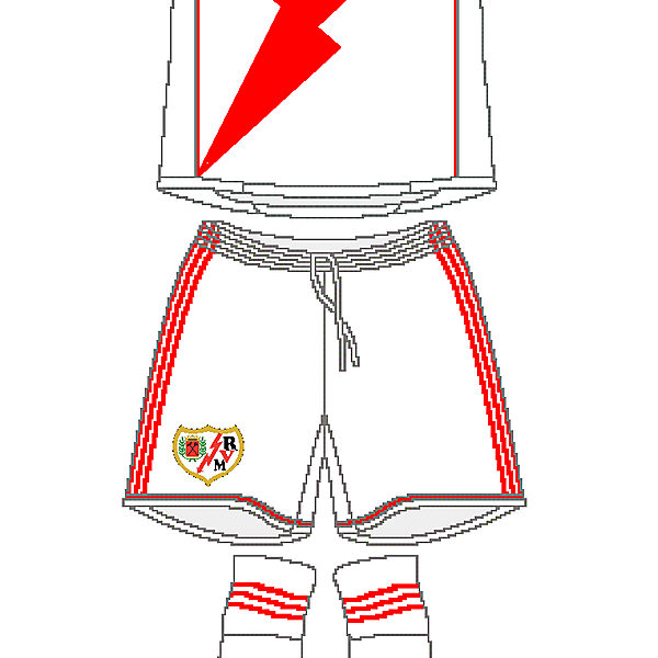 Rayo Vallecano Adidas Home