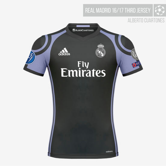 Real Madrid 16/17 Third Jersey