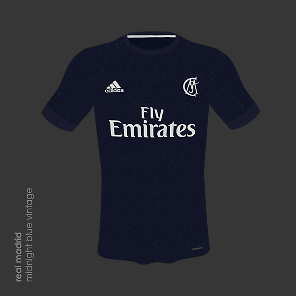 Real Madrid 18/19 Midnight Blue Vintage