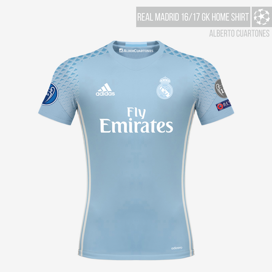 Real Madrid 16/17 Goalkeeper Home Jersey