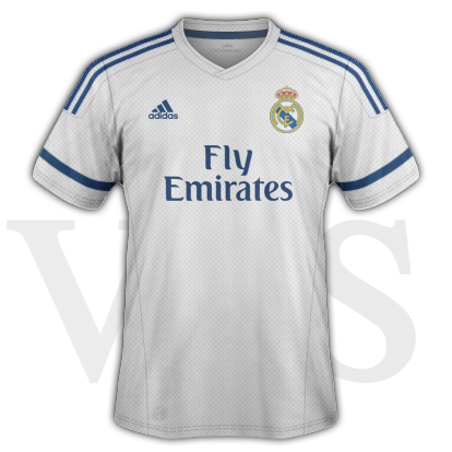 Real Madrid fantasy Home kit with Adidas