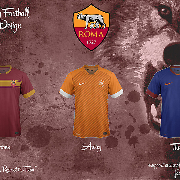 Roma Home, Away and Third Fantasy Kit 14/15