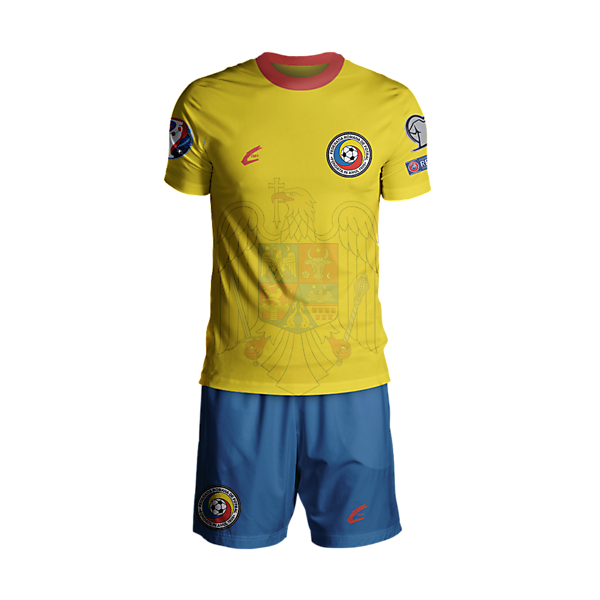 Romania Euro 2016 Home Rebrand Plain