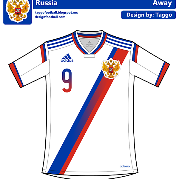 Russia away kit