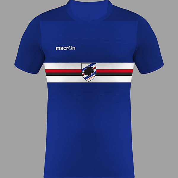 Sampdoria Home Kit / Macron