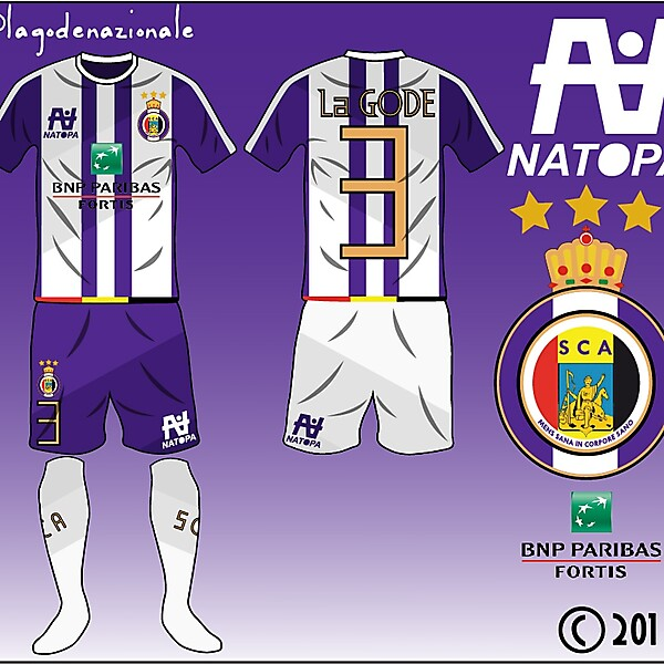 SC Anderlecht Fantasy Kit and Logo Design