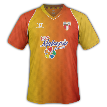 Sevilla Third kit for 2015/16 with Warrior