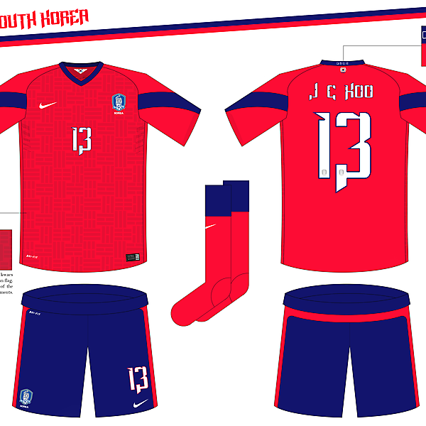 South Korea Home Kit (WC Competition)
