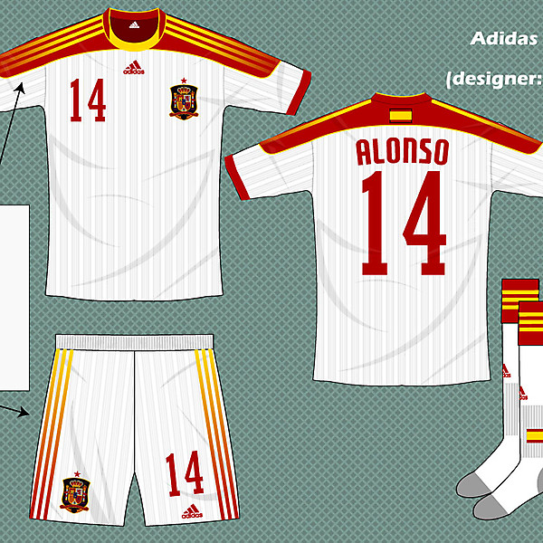 Spain adidas fantasy kit away