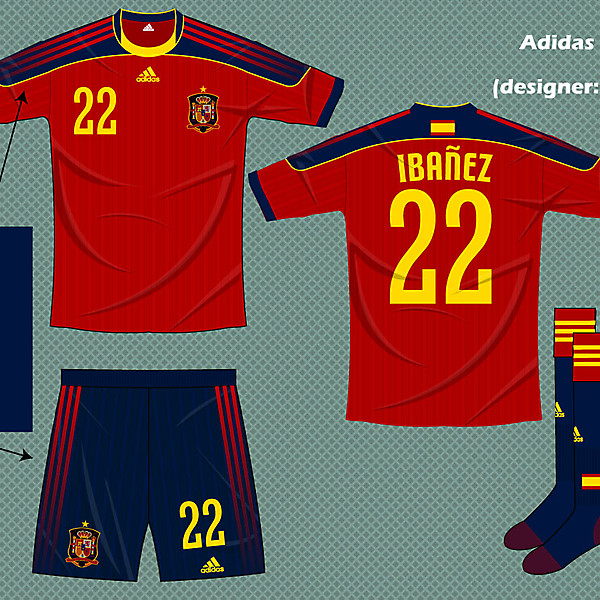Spain adidas fantasy kit home