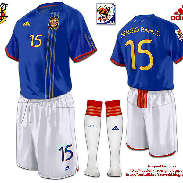 Spain World Cup 2010 fantasy away