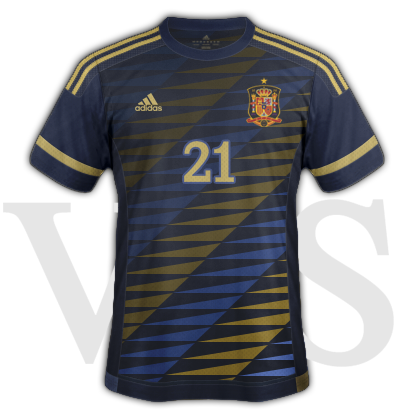 Spain National Away kit for 2015/16 Euro Qualifiers with Adidas