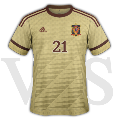 Spain National Third kit for 2015/16 Euro Qualifiers with Adidas
