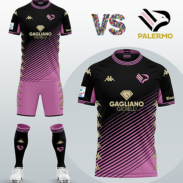SSD Palermo Away kit with Kappa (Fantasy 2020/2021)