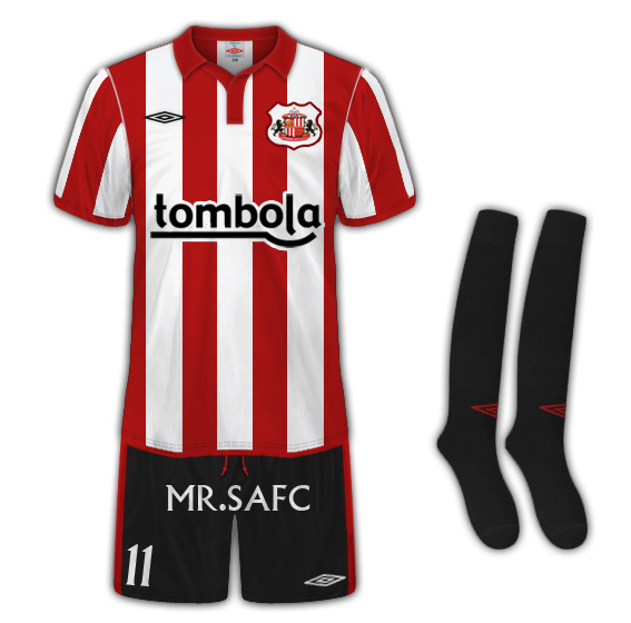 Sunderland AFC Home Kit tailored by umbro
