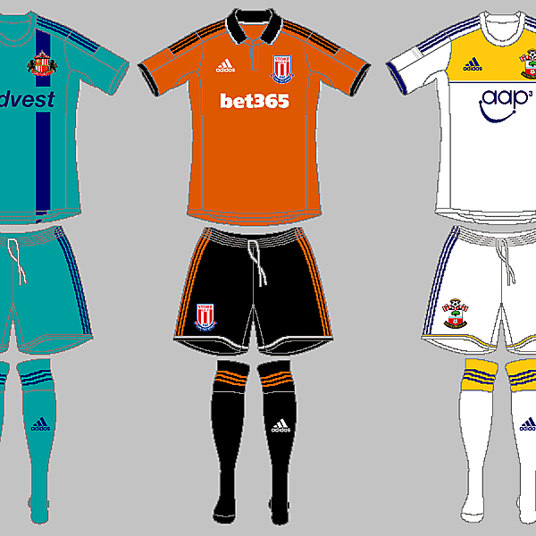 Sunderland, Stoke City &<br />Southampton Away