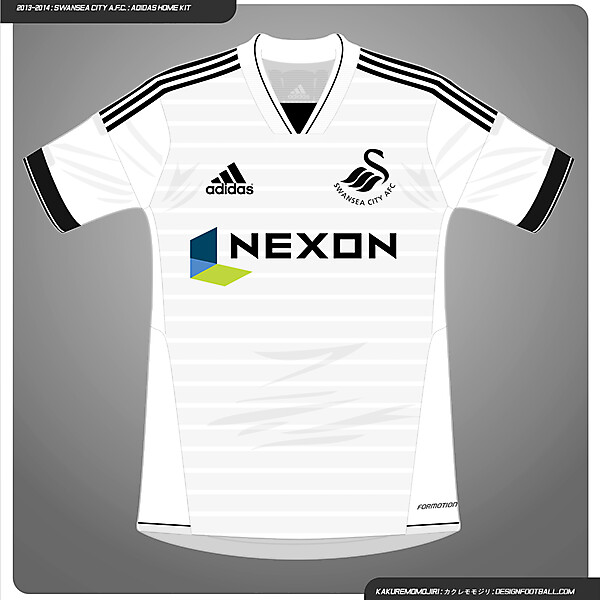 2013/2014 Swansea City A.F.C. - Adidas Home Shirt