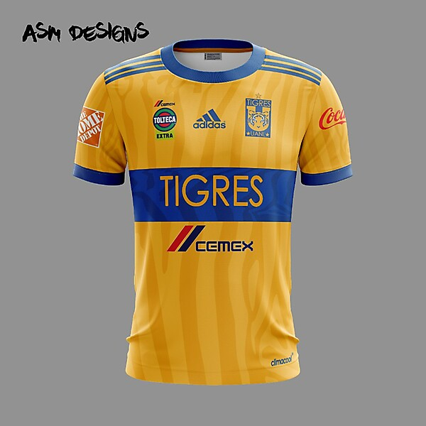 Tigres UANL Adidas 2018 Home Kit