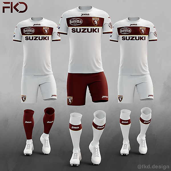 Torino FC - Joma Away Kit (3 Alternatives)