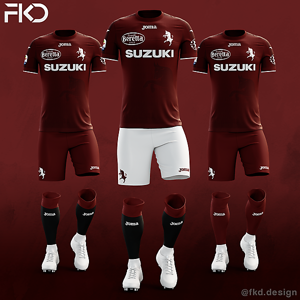 Torino FC - Joma Home Kit (3 Alternatives)