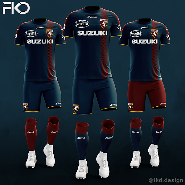 Torino FC - Joma Third Kit (3 Alternatives)