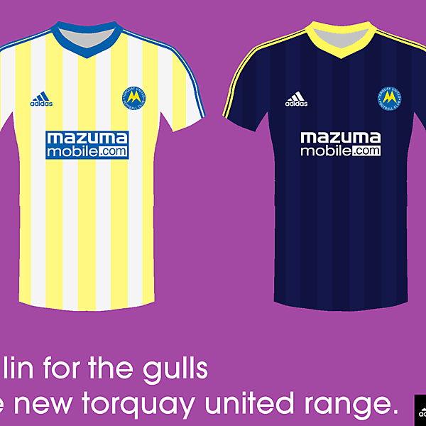 Torquay United 14/15 kits by<br />adidas