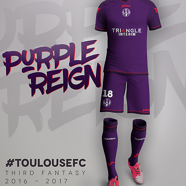 Toulouse FC Third 16-17 Purple Reign