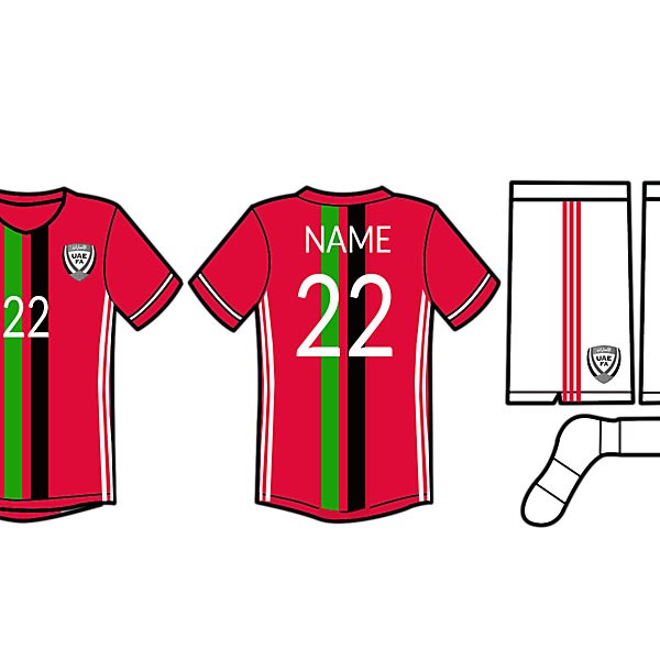 UAE football kit 2016
