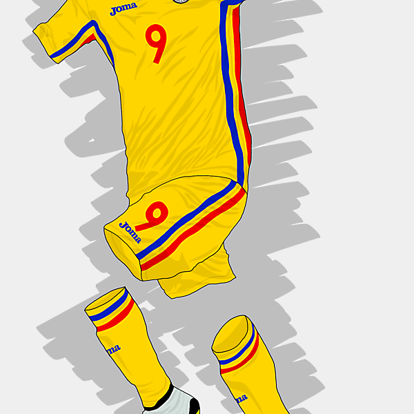 UEFA EURO 2016 - Romania Home Kit