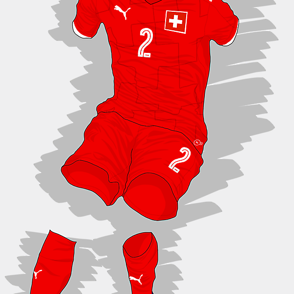 UEFA EURO 2016 - Switzerland Home Kit