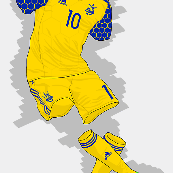 UEFA EURO 2016 - Ukraine Home Kit