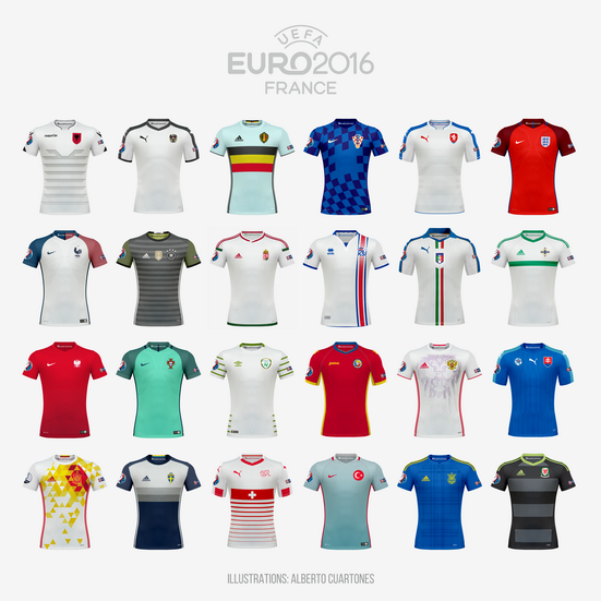 UEFA EURO 2016™ Away Jerseys