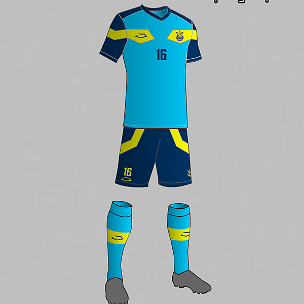 Ukraine National Football Team Third Kit 2016
