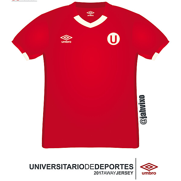Universitario de Deportes 2017 Umbro away football jersey