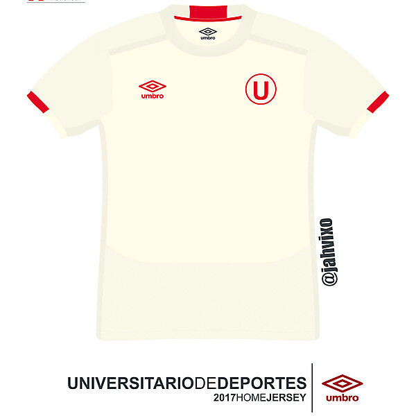 Universitario de Deportes 2017  Umbro home  football jersey